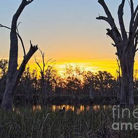 Cobdogla sunset by Graham Buffinton