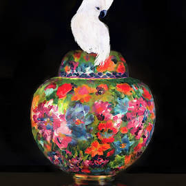 Cockatoo On Cloisonne by Kimberly Potts