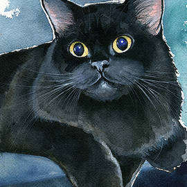 Coffee Black Persian Cat by Dora Hathazi Mendes