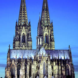 Cologne Cathedral, Portrait At Twilight by Douglas Taylor