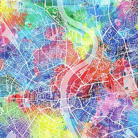 Bekim Art - cologne map watercolor
