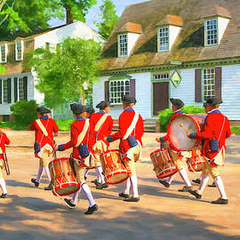 Colonial American Fife And Drum Corps by Mark E Tisdale