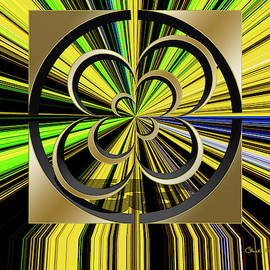 Color Burst 6 3d by Chuck Staley