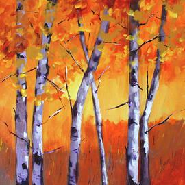 Color Forest Landscape by Nancy Merkle