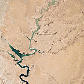 Colorado River In Drought by NASA Earth Observatory Robert Simmon