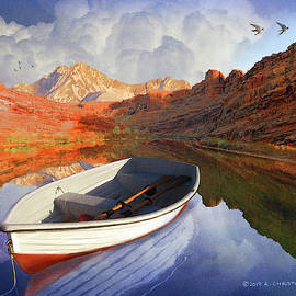 Colorado River Rowboat by R christopher Vest