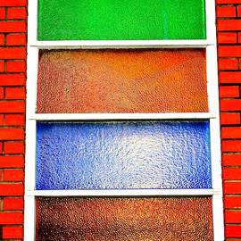 Colored Glass Panes by Cynthia Guinn