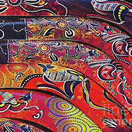 Colorful Aboriginal Art by Kaye Menner