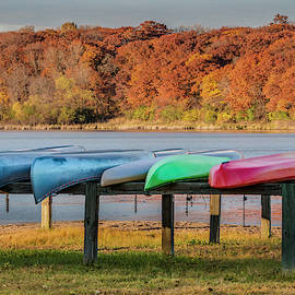 Colorful Canoes by Patti Deters