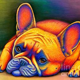 Daydreamer - Colorful French Bulldog by Rebecca Wang