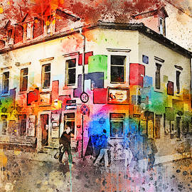 Colorful house facade in Goerlitzer Strasse Dresden Germany by Western Exposure