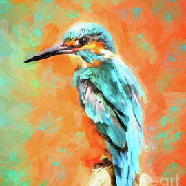 Colorful Kingfisher by Tina LeCour