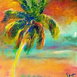 Colorful Palm at Twilight by Patricia Clark Taylor