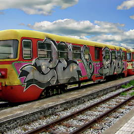Colorful Passenger Train by Anthony Dezenzio