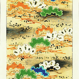 Colorful Pine Tree - Japanese traditional pattern design