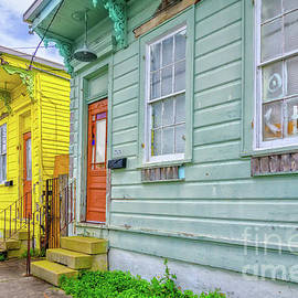 Colorful Row Houses - NOLA by Kathleen K Parker