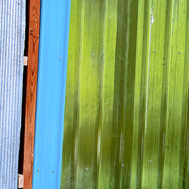 Colorful Shed Siding by Kae Cheatham