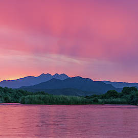 Colorful Sky At Dawn by Lorraine Harrington