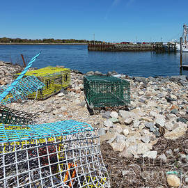 Colorful Traps By The Cape Cod Canal by Michelle Constantine