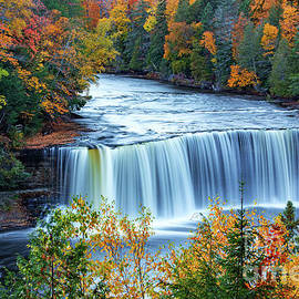 Colors of Upper Falls  by Dale Niesen