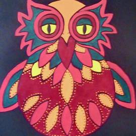 Colourful Owl by Stephanie Moore