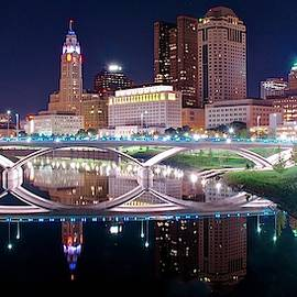Columbus Ohio Full Moon Pano by Frozen in Time Fine Art Photography
