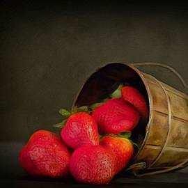 Come Share My Ripe Strawberries Red  by Isabella Howard