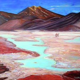 Connecting four countries. Atacama. by SurfArtTango Marina Lisovaya