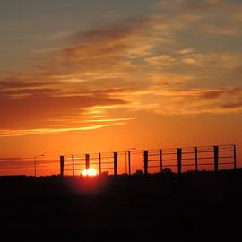 Sunrise Under Construction by Bill Tomsa