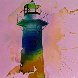 Contemporary Lighthouse by Trudee Hunter
