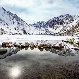 Convict Lake in Winter by Janis Knight