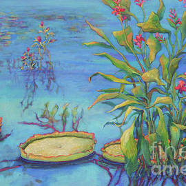 Cool Blue Pond by Sharon Nelson-Bianco