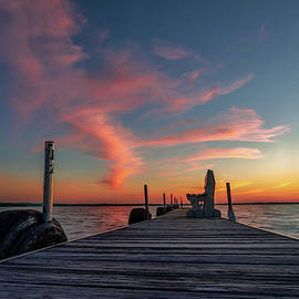 Cotton Candy Dock Sunset by Ron Wiltse