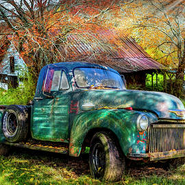 Country Chevy Pickup by Debra and Dave Vanderlaan