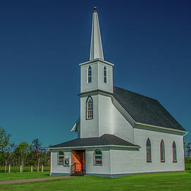 Country Church on a Fine Summer Day by Marcy Wielfaert