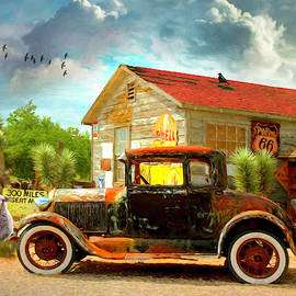 Country Drive Oil Painting by Debra and Dave Vanderlaan