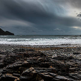 Crackington Haven, Cornwall, Panorma. by Maggie McCall
