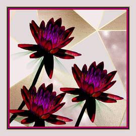 Cranberry Water Lilies by Rosalie Scanlon