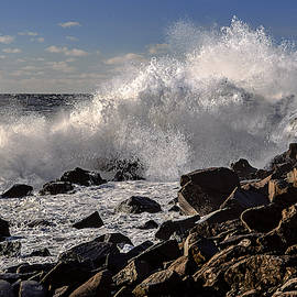 Crashing Surf Along the Bold Coast by Marty Saccone