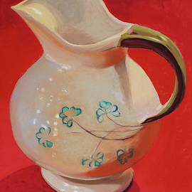 Creamer on Red by Barbara Cooledge