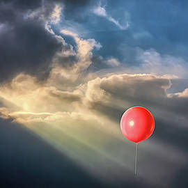 Crepuscular Red Balloon by John Haldane