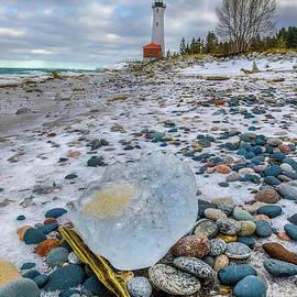 Crisp Point Lighthouse Michigan Upper Peninsula -0177 by Norris Seward