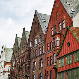 Crooked Buildings Of Bergen Norway In Europe by Whitney Leigh Carlson
