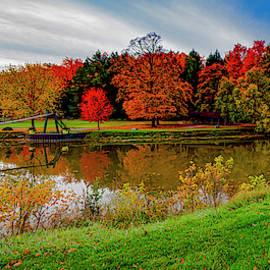Croswell Michigan Swinging Bridge by LeeAnn McLaneGoetz McLaneGoetzStudioLLCcom