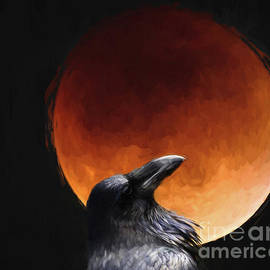 Crow at Wolf Moon by Jim Hatch