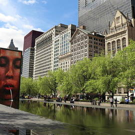 Crown Fountain  by Christiane Schulze Art And Photography