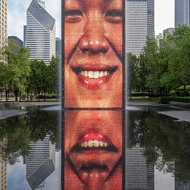 Crown Fountain in Millennium Park 2 by Jerry Fornarotto