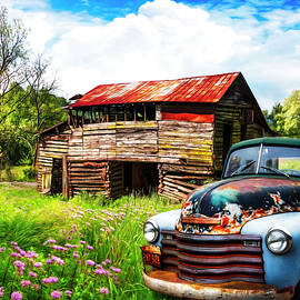 Cruising the Country Roads Watercolor Painting by Debra and Dave Vanderlaan