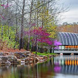 Crystal Bridges Spring Landscape Panorama - Bentonville Arkansas by Gregory Ballos