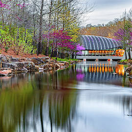 Crystal Bridges Spring Nature Landscape Panorama - Northwest Arkansas by Gregory Ballos